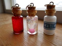 Zelda bottle charms, geeky things the kids could make.
