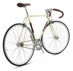 Cream and maroon looks cool in this picture. Retro Bicycle, Bicycle Art, Classic Road Bike, Speed Bike, Gear S, Riding Gear, Bike Parts, Fixed Gear, Road Bikes