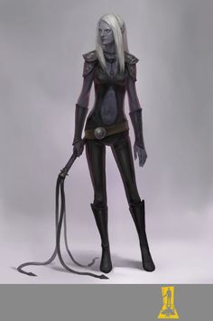 Night Elf with a Whip by Concept-Art-House.deviantart.com on @DeviantArt