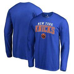 New York Knicks Fanatics Branded Square Up Long Sleeve T-Shirt - Royal - $17.99