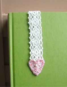 Crochet Heart Bookmark
