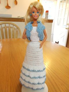 ICS Crochet Fashion Doll Barbie Outfit Evening Gown 3 Doll Included | eBay