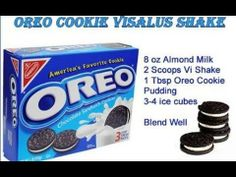 Oreo Cookie Shake Recipe For more Shake Ideas visit my website at www.flab2fabin90d... and click the Recipe tab at the top of the page. Over 300 ViSalus Body By Vi Shake Recipes to chose from. BE SURE TO LIKE US ON FACEBOOK https://www.facebook.com/BodyByVi90DayChallengeByViSalusScience