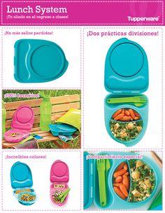 Lunch System es lo que tus niños necesitan para este regreso a clases. ¡Tupperware tiene los mejores productos!