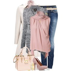 Pink in Winter - Polyvore