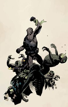 BPRD: War on Frogs #1 by Mike Mignola (color by Dave Stewart)