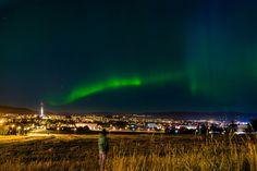 Nordlys (aurora), over Tyholt Tårnet by Aziz Nasuti on 500px