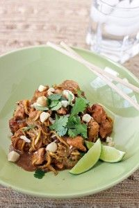 Paleo Pad Thai - just like the real thing, only better (Gluten Free).  I like mine with spaghetti squash.