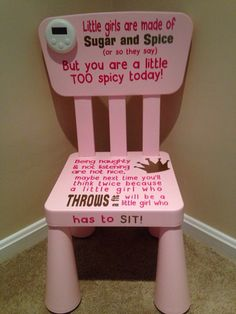 Time Out Chair With Timer childrens time out / naughty step chaircraftyamaze on etsy