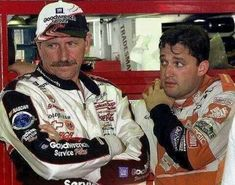 Dale Sr and Tony #nascarracing #nascar #racing #legends