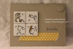 Love the faux postage stamps! Convention swap - Storybook Friends
