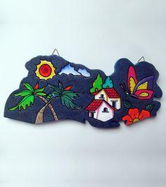Porta llaves de Mapa de El Salvador, ideal para colgar las llaves de tu casa, usalo en la pared de tu hogar.
