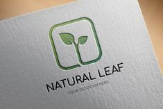 Ad: Natural Leaf Logo Template by BdThemes on Modern, stylish and hand crafted logo template. You can easily change the default color. CMYK/RGB, vector EPS and Illustrator (ai) file Marketing Logo, Logo Luxury, Craft Logo, Abstract Logo, Abstract Nature, Travel Logo, Logo Food, Photoshop, Illustration
