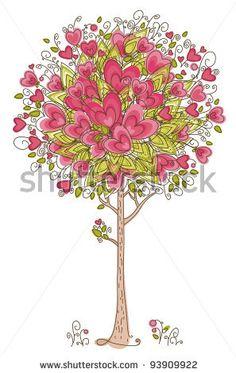 stock vector : Abstract heart tree