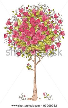 stock vector : Abstract heart tree