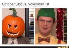 THERES TWO DAYS UNTIL HALLOWEEN WHICH MEANS THERES THREE DAYS UNTIL I CAN PLAY CHRISTMAS MUSIC HALLELUJAH