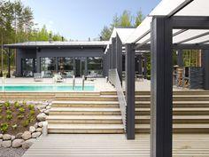 Suomen kauneimpia koteja Toiminta-ajatuksemme on: Me olemme rakentaneet ja rakennamme taloja, mutta ensisijaisesti kuitenkin Me teemme Koteja. Olemme koonneet tänne... Joko, Outdoor Living, Outdoor Decor, 50 Shades Of Grey, Outdoor Gardens, Farmhouse, Yard, Exterior, Summer
