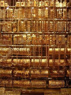Gold Jewelry Gold jewelry in the Aleppo Souq, Syria. Gold Jewelry NEW Forever Warwick Goble, Vladimir Kush, Aleppo, Josephine Wall, Brian Froud, Thomas Kinkade, Claude Monet, Yule, Arabic Jewelry