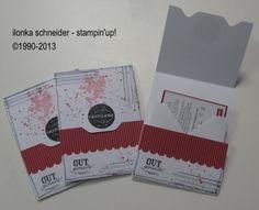 Besondere Kartenformen: Karte mit Envelope Punch Board (Ilonka)