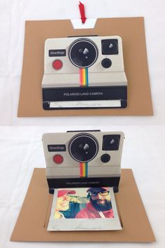 Polaroid pop up card - DIY