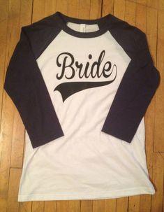 Cute Wedding Baseball Shirt for Bride - 3/4 sleeve t-shirt - Unisex fit - Wedding Day Shirt on Etsy, $19.49