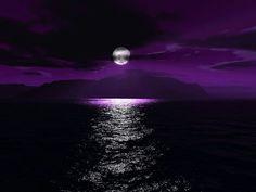 A full moon Lends its light To an aubergine world A casual hand Has swept blocks Of colour across the sky In tones Of indigo Violet Purple © Caro Ness 2016 Purple Love, All Things Purple, Purple Rain, Shades Of Purple, Purple Sunset, Ocean Sunset, Deep Purple, Lilac Sky, Purple Stuff