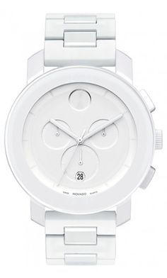Movado | Movado Bold Medium White Bracelet Chronograph Watch