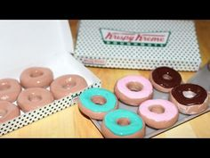 Krispy Kreme Donuts | How To Make American Girl Doll Crafts - YouTube