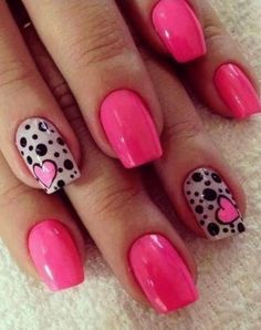 <3 <3 <3 <3 <3 <3 <3 55 Cute Valentine Nail Art Designs to Wear your Feelings