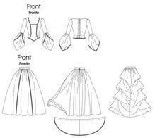Wedding Dress Sewing Patterns, Mccalls Sewing Patterns, Cloth Patterns, Bag Patterns, Dress Patterns, Motif Vintage, Bustle Dress, Victorian Costume, Costume Patterns