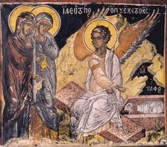 By Athanasios Moustakis Undoubtedly, the Resurrection of Christ is the most important event in human history. It changes man's relationshi. Life Of Christ, Jesus Christ, Russian Icons, Byzantine Art, Mary Magdalene, John The Baptist, Medieval Art, Illuminated Manuscript, Fresco