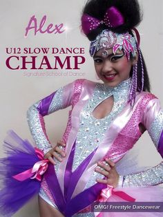 Beautiful costume by OMG! Freestyle Dancewear using our Mystique fabric. www.facebook.com/OMGFreestyle