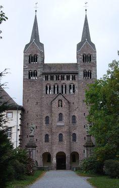 Arte carolingio. Westwerk. Abadía benedictina de Corvey (Alemania, ca. 885)