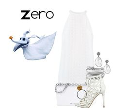 """Zero"" by sjade9 ❤ liked on Polyvore featuring A.L.C., Prada, David Yurman, GUESS, modern, disney, disneybound, zero, moderndisney and Thenightmarebeforechristmas"