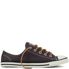Converse Women's Chuck Taylor All Star Dainty Peached Canvas Low Top Almost  Black/Biscuit/Egret