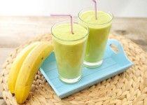 Avocado smoothie met banaan en sinaasappel