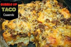 Bubble-Up Taco Bake  Can use soy crumbles