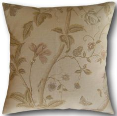 Cushion Covers made with Laura Ashley Summer Palace Taupe & Ivory Cream Pillows Brown Cushions, Floral Cushions, Cushion Cover Designs, Cushion Covers, Cream Pillows, Throw Pillows, Laura Ashley Fabric, Taupe, Beige