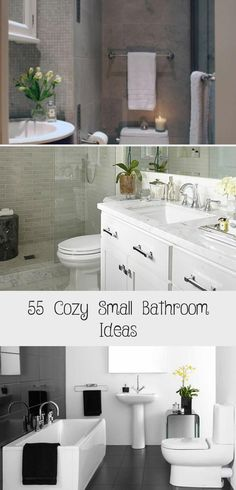 Great Ideas For Small bathrooms. This is happening, even if it's just in the powder room Bathroom Design Small, Small Bathrooms, Toilet Room, Family Bathroom, Cozy Room, Powder Room, Basin, Small Spaces, New Homes
