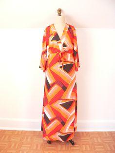 1970s Boho GYPSY HAWAIIAN Mumu MAXI Dress, via Etsy.