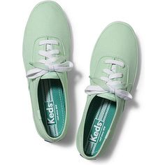 Keds Champion Dip Dye Lace ($25) ❤ liked on Polyvore featuring shoes, sneakers, keds, flats, mint green, mint sneakers, lace up sneakers, keds shoes, mint shoes and lace flats