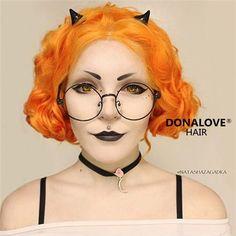 ️️☀️☀️WOW~~Amazing!!☀️☀️Babe @natashazagadka, you are so precious!! ☀️☀️Do you love this cute orange wig, girls?? ➡️WIG:SNY010➡️www.donalovehair.com❤️❤️Use code✨love  to save $10 on your order.  #donalove #donalovehair #long #orange #makeup #wig #hair #pretty