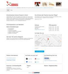 Schumacherei Antonio Rosanó, Zürich, Schuhreparaturen, Lederwaren, Drucksachen