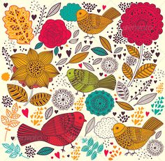Vector floral background - Patterns Decorative