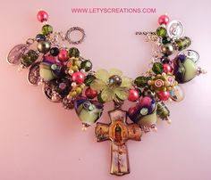 Catholic Our Lady of Guadalupe, Saints, Religious Medals Charm Bracelet | eBay   www.letyscreations.com #Catholic #Medals #Jewelry