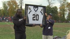LeSean McCoy gets his jersey retired at the next-to-last game at the field known as the Rock Pile, the home of Bishop McDevitt.