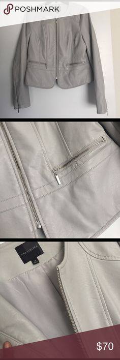 Vegan Leather Moto jacket Bought but never worn. In great condition from the limited. ACCEPTING OFFERS 💜 The Limited Jackets & Coats Utility Jackets