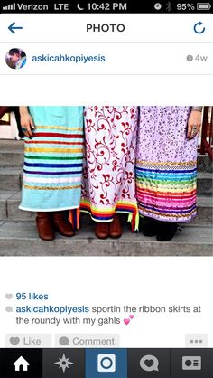 Pretty ribbon skirts