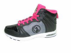 Baby Phat Rita women's athletic comfort flats high top fashion sneakers shoes black fuchsia size 7.