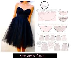 Party Dress: Easy Sewing Several Tulle Skirt Patterns - Elo Lili - - Tenue de Fête : Couture Facile Plusieurs Modèles de Jupe Tulle Bettinael.Made in France: Party Dress: Easy Sewing Several Models of Tulle Skirt - Diy Jupe Tulle, Tulle Fabric, Look Fashion, Diy Fashion, Party Wear, Party Dress, Girls Tulle Skirt, Circle Skirt Pattern, Skirt Patterns Sewing